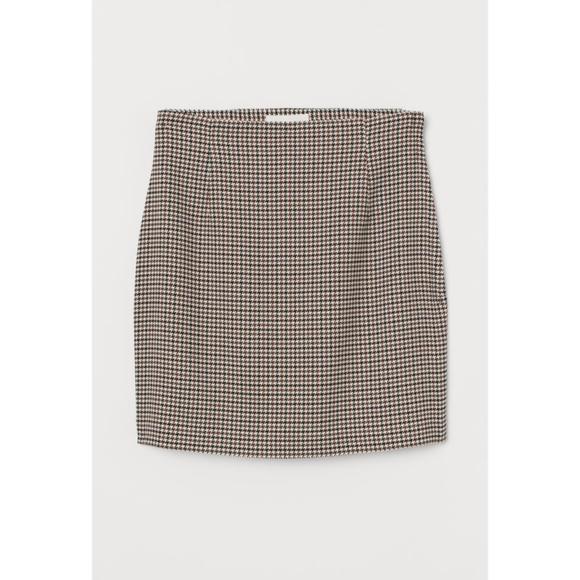 H&M Houndstooth Mini Skirt